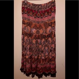 Gypsy Boho Long Skirt